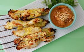Thai Chicken Satay with dipping sauce