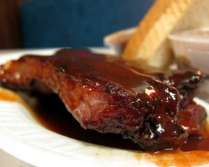 Chicken or steak with Balsamic BBQ sauce